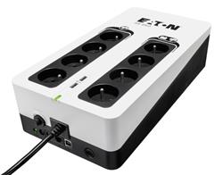 EATON UPS 3S 850 FR, Off-line, Tower, 850VA/510W, výstup 8x FR (CZ), USB, RJ11, 2x USB nabíjení (2A max), bez vent.