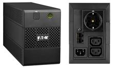 EATON UPS 5E 850i USB DIN, Line-interactive, Tower, 850VA/480W, výstup 1x Schuko (DIN) + 2x IEC C13, USB, bez ventilátor