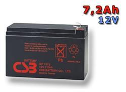 CSB Náhradni baterie 12V - 7,2Ah GP1272 F2 - kompatibilní s RBC2/5/8/9/12/22/23/25/27/31/32/33/40/48/51/53/54/59/109/110