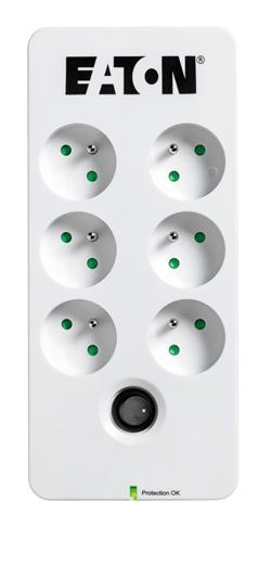 EATON Protection Box 6 FR, přepěťová ochrana, 6 výstupů, zatížení 10A