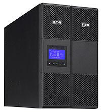 EATON UPS 9SX 11000i, On-line, Tower, 11kVA/10kW, svorkovnice, USB, displej, sinus, ližiny nejsou součástí