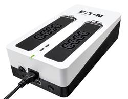 EATON UPS 3S 700 IEC, Off-line, Tower, 700VA/420W, výstup 8x IEC C13, USB, RJ11, 2x USB nabíjení (2A max), bez vent.