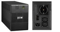 EATON UPS 5E 650i USB DIN, Line-interactive, Tower, 650VA/360W, výstup 1x Schuko (DIN) + 2x IEC C13, USB, bez ventilátor