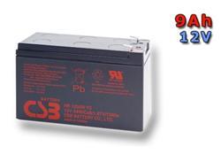 CSB Náhradni baterie 12V - 9Ah HR1234W F2 - kompatibilní s RBC17/24/105/115/116/124/132/133