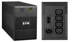 EATON UPS 5E 650i USB, Line-interactive, Tower, 650VA/360W, výstup 4x IEC C13, USB, bez ventilátoru