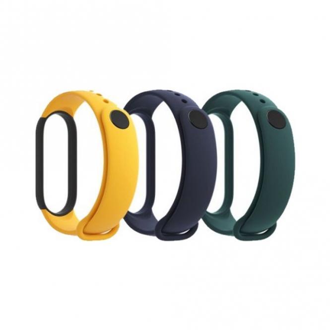 Xiaomi Mi Band 5 náhradní náramky Blue, Yellow, Green 29765